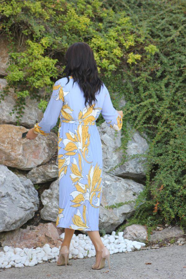 robe midi plissée